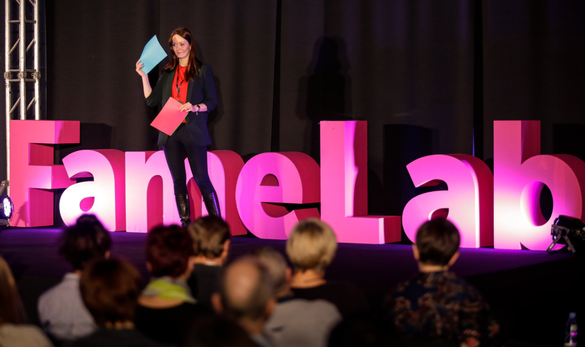 Semi-finalist of the FameLab competition in our group